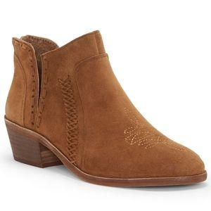 Vince Camuto Presita Brown Suede Western Boots